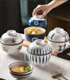 Japanese-style ceramic stew pot & water-proof stew pot with lid & household bird's nest soup pot & stew pot & bowl stew pot small soup pot