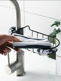 Faucet rack bathroom simple hanging basket kitchen sink iron storage rack