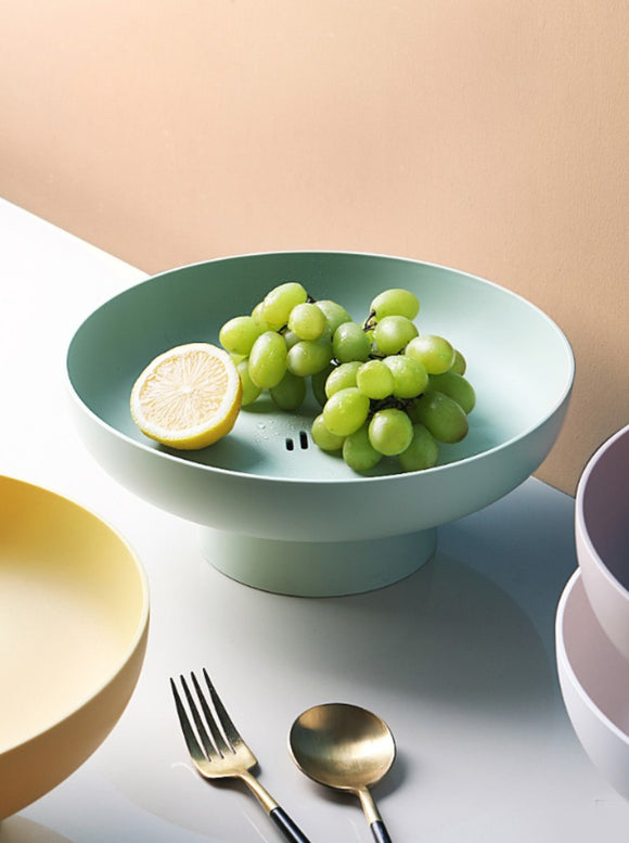 Nordic fruit plate & drained vegetable storage plate & living room large dried fruit plate & household candy snack plate