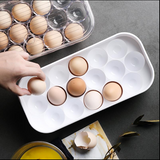 16 grid thick plastic egg box refrigerator non-slip egg carrier freeze storage box rack storage