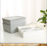 Storage & Organisation living room furniture Space Savers storage box underwear sock storage box Multi-grid PP storage box multi-function box with dust cover NO GRID 10GRID 15GRID box