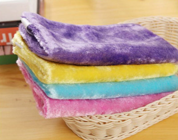 Wonder Wood Fiber Cleaning Towel (Random Color)-3pcs
