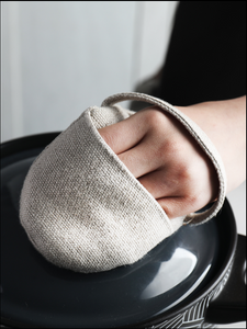 Fingertip cotton and linen insulated gloves baking ironing small saucepan ovens oven kitchen five finger gloves food dinner set kitchen scale plate set barang dapur cutleryceramic bowl kitchen tools glass container