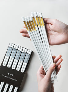 American household alloy chopsticks, high-grade frosted , family packing 10 pairs of chopsticks