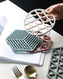 High temperature silicone insulation placemat hollowing mat non-slip anti-scalding dish mat coaster table thickening pot