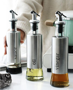 Oil bottle Food-grade Glass Oil Bottle Vinegar Bottle Making Salad CookingBaking Roasting Grilling Frying
