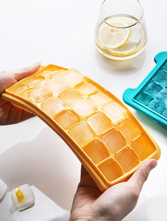 Square silicone & ice making box & creative DIY ice making mold & household quick frozen ice cubes are easy to fall 36 grid
