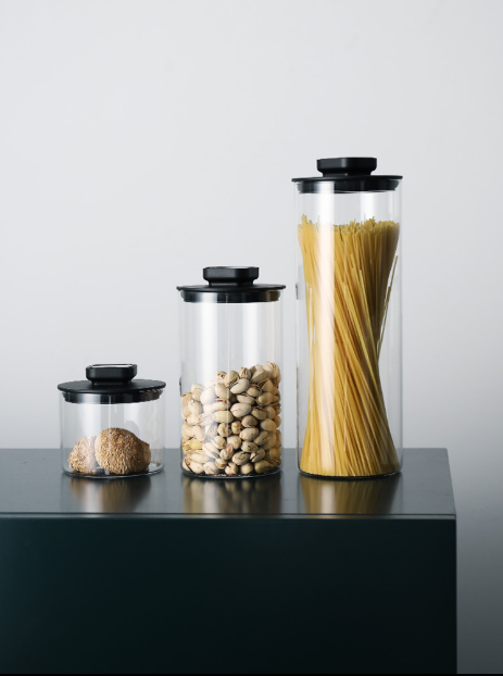 Glass sealed container press food storage container omnigrain bean pasta container moisture-proof milk powder container