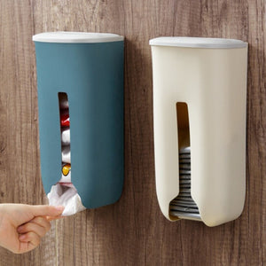 Garbage Bag Storage Box Home Kitchen Bathroom Wall Hanging Plastic Storing Rack with Cover