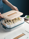 Plastic portable dumpling box cosmetic storage box household food frozen storage box lunch box
