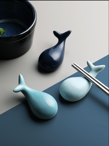 Whale ceramic chopsticks hold creative and lovely animal chopsticks pillow hotel table set table tableware spoon stand chopsticks rack kitchen rack