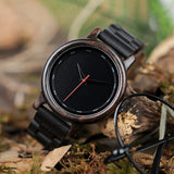 BOBO BIRD Simple Style Wooden Men Watches Quartz Wrist Watch gifts for male erkek kol saati custom logo