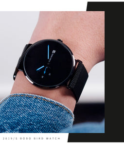 Male Watch Men Quartz Analog Timepieces Women BOBO BIRD magnetic Strap Blue Small dial relogio masculino Thin