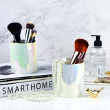 Nordic Living Room Office Desktop Pen Storage Holder Ceramic Fashion Eyebrow Pencil Makeup Brush Cosmetics Rack Creative Gift