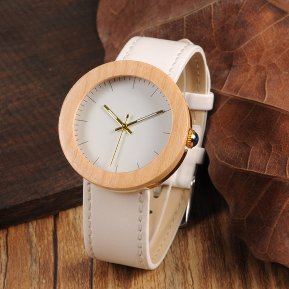 BOBO BIRD Women Watches Bayan kol saati Wood Metal Wristwatch Relogio Feminino Leather Band Ladies Gold Quartz in Wood box