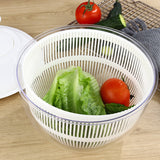 Rotary Salad Spinner Dehydrated Machine Manual Salad Dehydrator Vegetable Colander Water Drain Basket