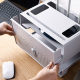 Double Layer Drawer Type WiFi Router Storage Box for Wire Board Cable Organize Hp Holder