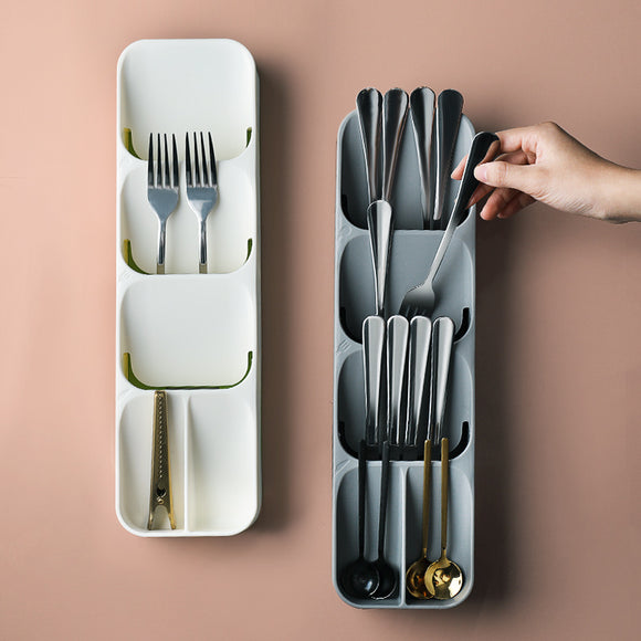 Drawer cutlery separate receive box, kitchen plastic store content case, chopsticks spoon sorting box