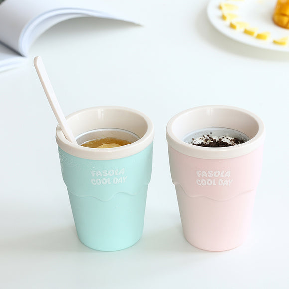 Smoothie cup&summer ice cream cup& cold drink cup& quick ice cream& crushed ice cup diy