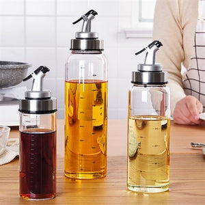 Borosilicate Glass Oiler Seasoning Dispensers Oil Sprayers Bottles-500mL