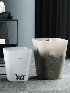 Simple PP trash can office paper basket dormitory kitchen living room bathroom open large dumpster