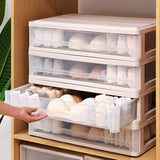 Wardrobe Stackable Transparent Underwear Storage Box Bra Panty Socks Drawer Storage Box Clothes Organization