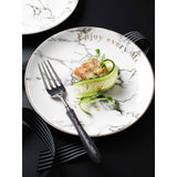 breakfast plate ceramic plate marbling salad plate food dinner kitchen scale plate barang dapur cutlery ceramic bowl kitchen tools glass container