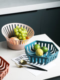 European-style plastic fruit drain basket home living room desktop storage basket kitchen vegetable washing basket