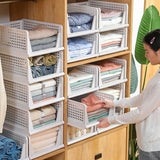 Home Wardrobe Clothes Multi-Layer Storage Basket Storage Cabinets Wardrobe Organisers-1pc