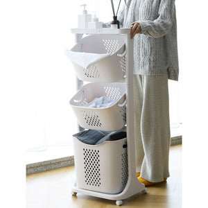 3 Tier Laundry Baskets Bathroom Storage Basket Clothes Storage Rack Clothes Organisers