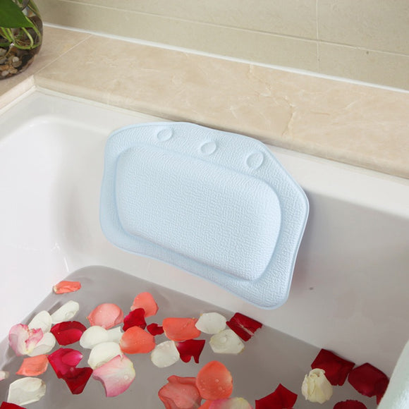 Bath pillow waterproof sponge bathtub sucker non-slip and odorless bathroom
