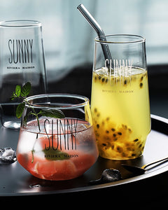 Nordic style glass glass glass milk juice drink cup beer Yang wine cup dessert smoothie cup