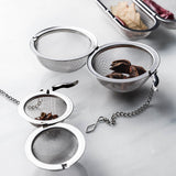 304 stainless steel tea filter ball tea leakage kitchen soup seasoning package seasoning ball bubble tea strainer
