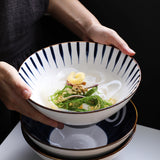 Japanese ceramic noodle bowl