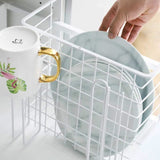 Under the kitchen cabinet hanging basket rack dish rack kitchen cabinet storage rack lunch box rack kitchen rak pinggan dish drainer shelf rack kitchen storage cake stand stainless steel kitchen rack food container cake mould dish