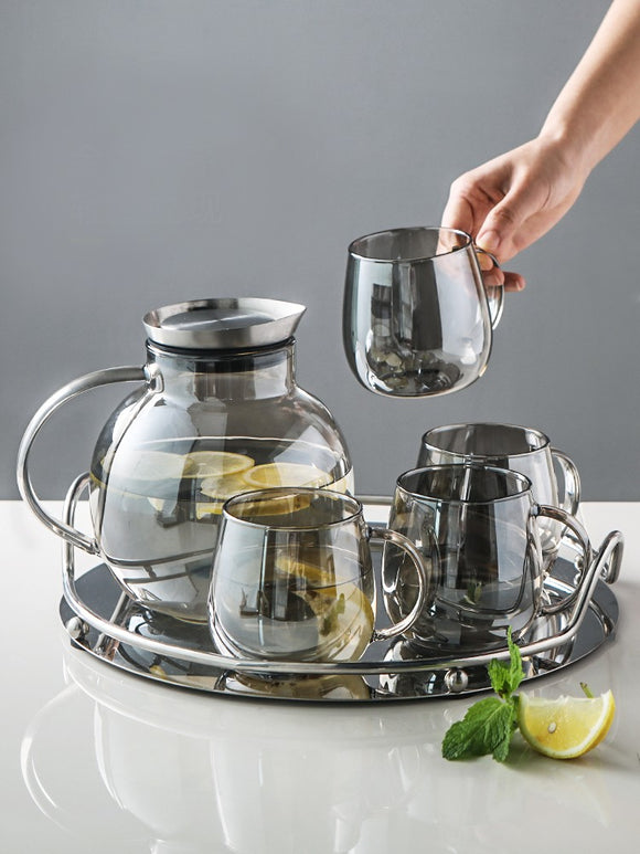 Light luxury glass cold kettle & office high temperature resistant teapot & household large capacity jug