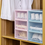 Wardrobe Underwear Storage Box Bra Panty Socks Drawer Storage Boxes Stackable with Lid - Space Saving