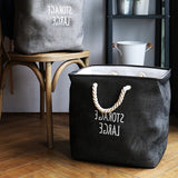 Nordic cotton linen clothing storage basket thick square dirty clothes household toys storage basket barrel