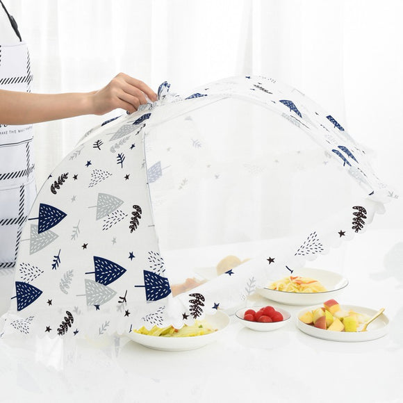table cover net dust cover to protect food vegetables rice gadgets round insect-proof vegetable cover