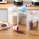 Home Kitchen Rice Dispenser Storage Container Food Container Storage Organizers Canisters 2L/2KG
