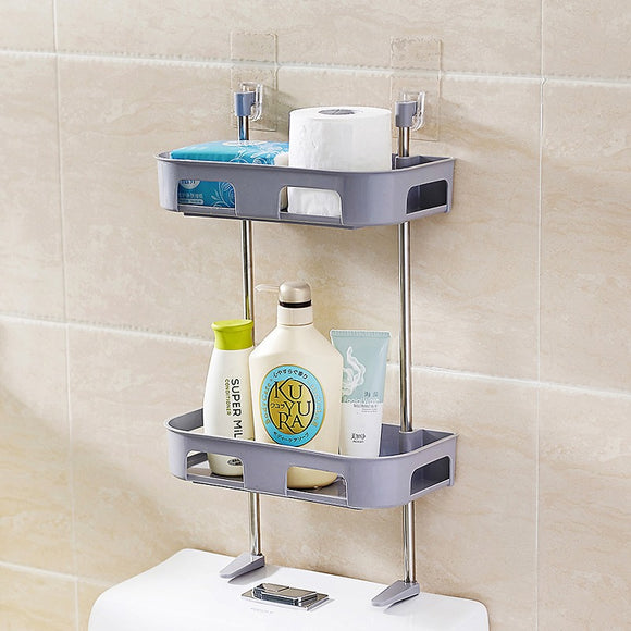 2 Tiers Creative Toilet Organize Storage Rack