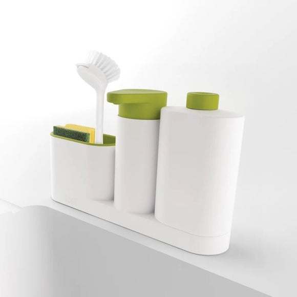 3 Piece Sink Tidy Set Sink Base Plus Multifunctional Kitchen Detergent Soap Dispenser Storage Rack