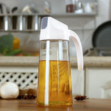 Kitchen Cooking Oil Vinegar Soy Sauce Glass Container Spice Auto Dispenser [600ml]