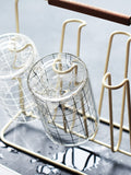 Europe - style iron kitchen rack cup, glass, marker cup, storage holder, water cup holder rack storage