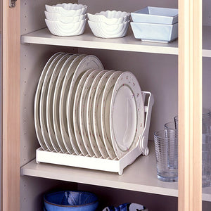 Japanese Export Quality Kitchen Foldable 12 Compartments ABS Convenient Dish Rack