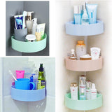 Large Capacity Bathroom Corner Storage Rack Wall Mounted Rack