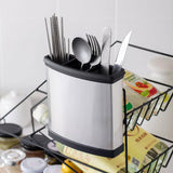 Stainless Steel Chopstick Holder Kitchen Tableware Rack Household Chopsticks Spoon Storage Box