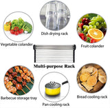 Multipurpose Heat Resistant Stainless Steel Over Sink Dish Drying Rack