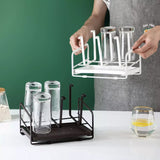 Carbon Steel Cup Holder for Storing Glasses, Mugs Cup Storage Rack Household Tea Cup Draining Water Rack