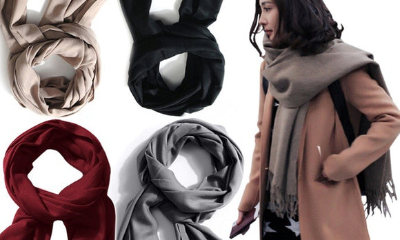 Comfortable Thick Warm Scarf For Winter Casualwear (Polyester)